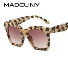 MADELINY Fashion Sunglasses Women Vintage Brand Design Square Luxury Sun glasses Big Frame Shades Eyewear Oculos UV400 MA033