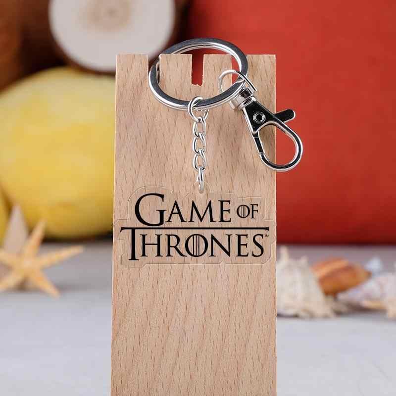 テレビシリーズのゲームの魂の家 Daenerys Targaryen ドラゴン漫画車のキーチェーンホルダーバッグ親友卒業 Chirstmas の日ギフト