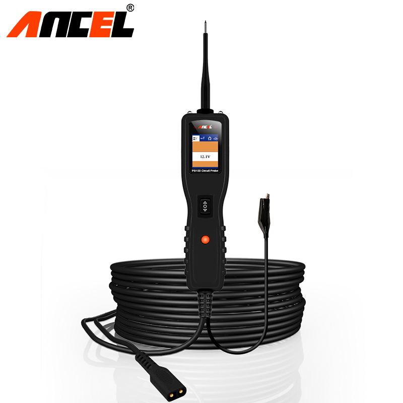 Ancel PB100 Professional Automotive Circuit Tester Power Circuit Kit Continuity Short Testing for 12-24V Auto Electrical System vxdas vsp200 vehicle super probe power scan tool vsp200 electrical system circuit tester vsp200 to test diode and show values