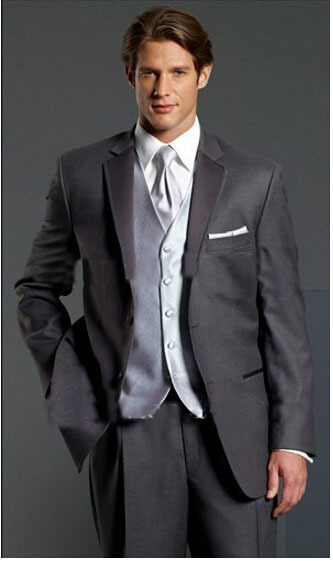 Groom Tuxedos Suit Pants Vest Jacket Wedding-Suits/dress Two-Buttons Custom-Made Best