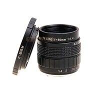 Fujian 50mm F1.4 CCTV TV lens + C Mount Ring for Canon Mirrorless Camera EOS M M2 M3 M5 M6 M10 M100 (Black)