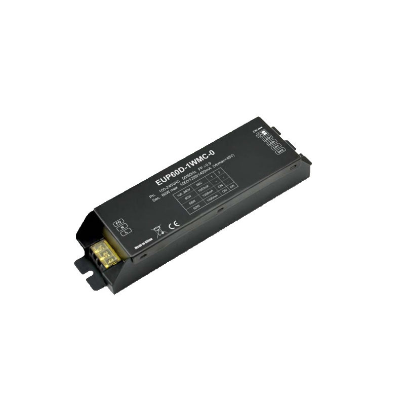Constant Current DALI Dimmer Decoder Series 120-240VAC 1050mA /1200mA / 1400mA *1 channel DALI LED Controller EUP60D-1WMC-0