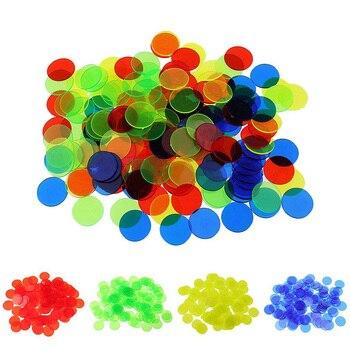 100 pcs/set Poker Chips Plastic 19mm Round  opacification/transparent Coins Poker Wholesale