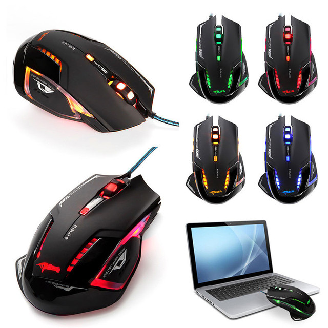 E-3lue Mazer II 2500 DPI 6 Button Blue LED Optical USB Wired Gaming Game Mouse