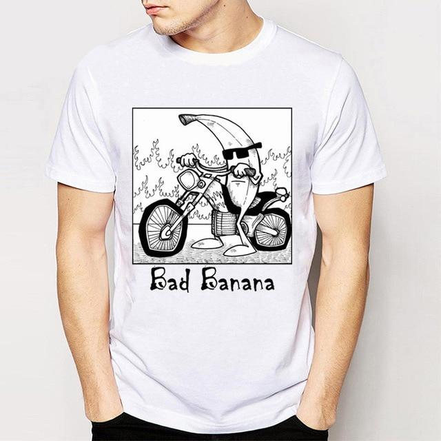 Модные Летний стиль мужские футболки новый ретро Прохладный Рок   amp  ролл  Панк Футболки для 8b4df1eb498c8