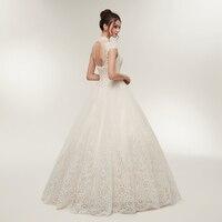 Sexy Open Back Back Ball Gown Lace Wedding Dress 2018 Elegant High Collar Lace up Bridal Dress Vestido de Noiva 4