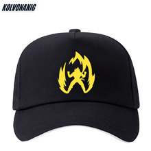 High Quality Anime Dragon-Ball Super Saiyan Print Baseball Caps Men&Women Hip Hop Ajustable Snapback Cotton Cap Trucker Dad Hats