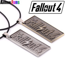 Hot Game Fallout 4 Logo choker necklace keychain Zinc Alloy pendants keyring charms Jewelry for Women Men(China)