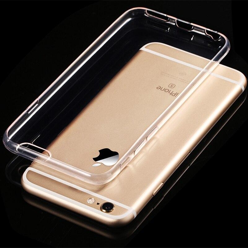 Цена за 50 шт./лот ясно, мягкий чехол силиконовый чехол для iPhone 6 6 S 6 7 7 Plus ультра тонкий прозрачный Телефон задняя доставка DHL