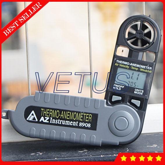 AZ8908 Ce tachometer price with Pocket Anemometer Wind Speed Meter Digital temperature