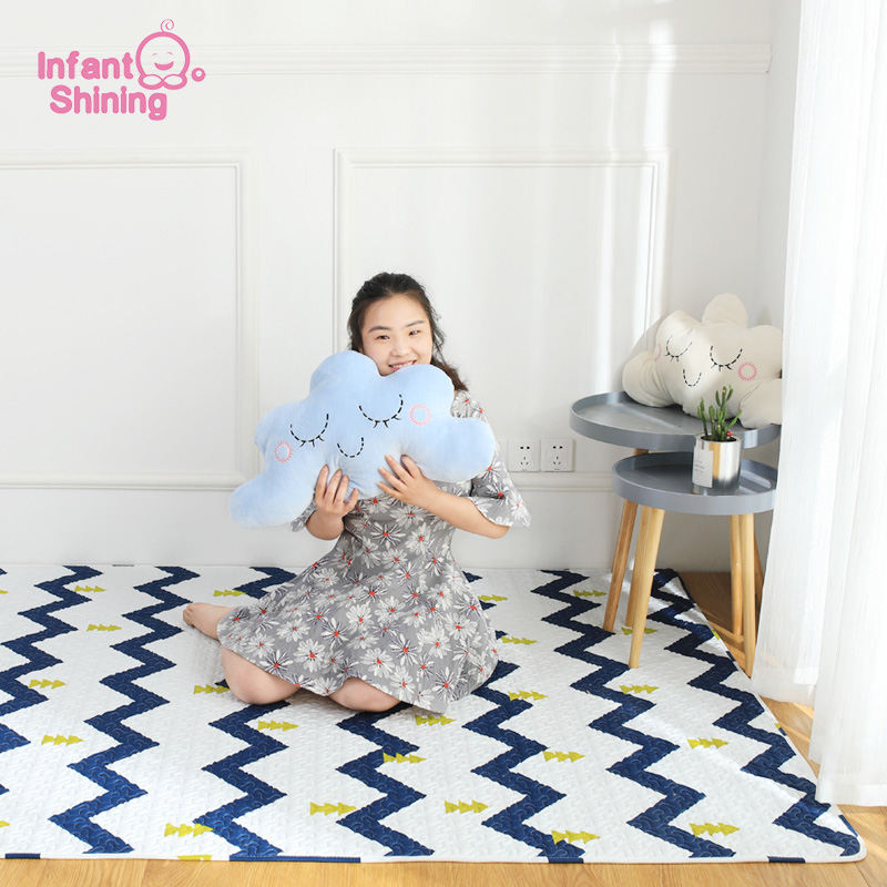 Infant Shining TaTaMi Baby Play Mats Nordic style Cotton Blanket  Kid's Puzzle Exercise Rug Bedroom Carpet Machine Washable