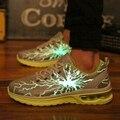 Homens Sapatos casuais Luminosos Light Up Para As Mulheres Sapatos de Caminhada Ao Ar Livre Respirável Mulheres Sapatos Zapatillas Deportivas de Incandescência 2016