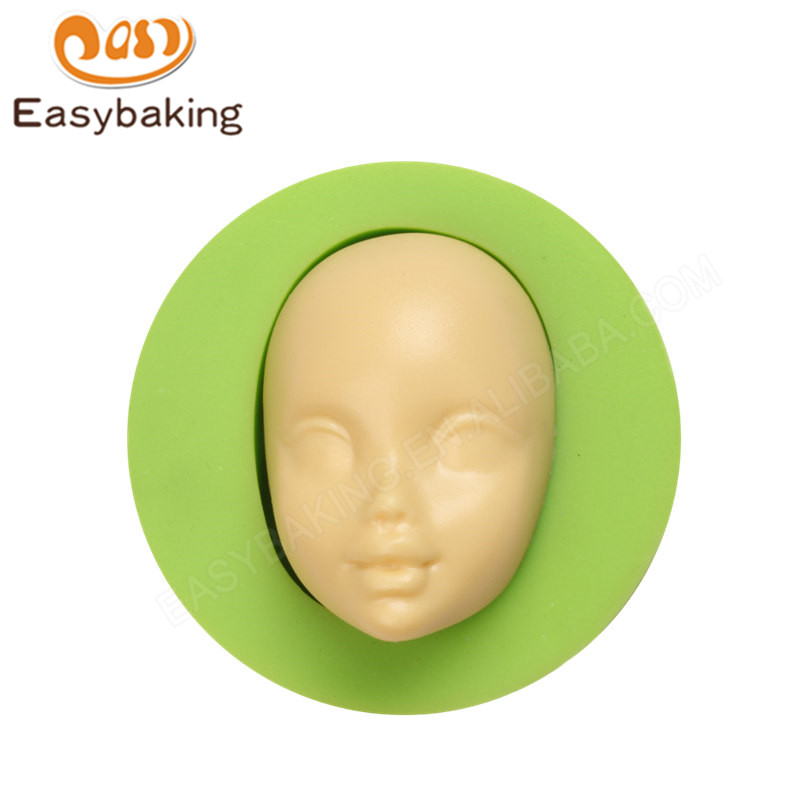 Hot Sale Baby Face Shape Silicone Soap Mold Chocolate Fondant Mould Cake Decoration Tools Kitchen Bakeware