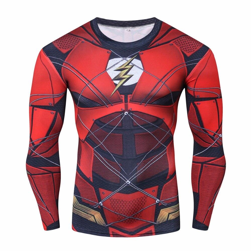 2018 Film Avengers 3 Infinity Guerra Rosso flash Iron spider spider-man 3D Cosplay T-Shirt Superhero Tee manica Lunga Shirts Tops