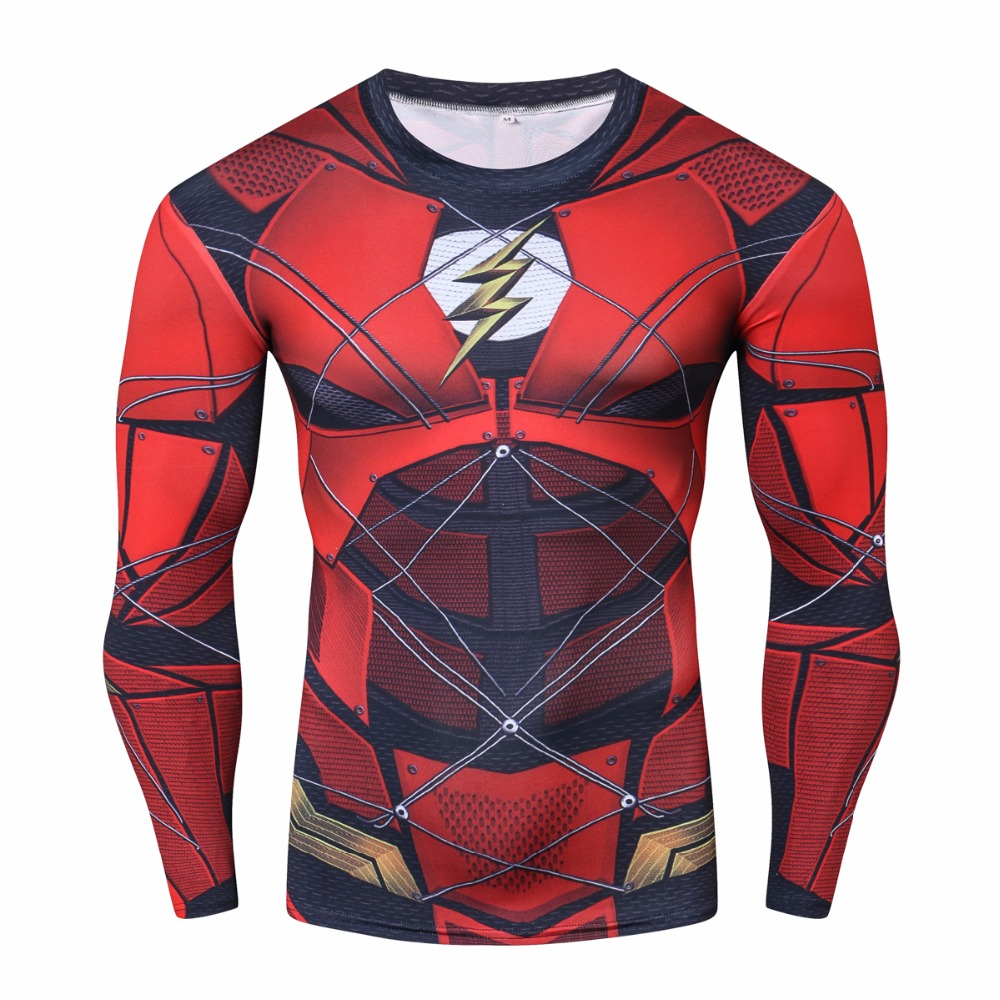 2018 Movie Avengers 3 Infinity War Red flash Iron spider spider-man 3D Cosplay T-Shirts Superhero Long sleeve Tee Shirts Tops