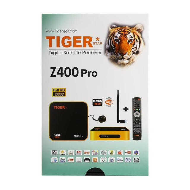 Tiger star Z400 pro Satellite IPTV Receiver Satellite Receiver wifi cccam for Arabic,Europe,iptv channels over 700 channels