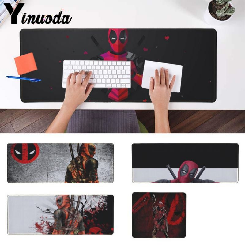 Yinuoda New Designs Marvel deed pool Deadpool Large Mouse pad PC Computer mat Size for 250*290 300*900 400*900cm