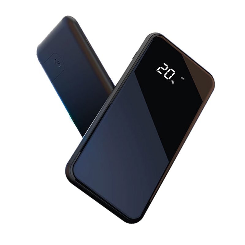 10000mAh Dual USB Power Bank Phone Holder Qi Wireless Charger for iPhone X 8 Mobile Phone