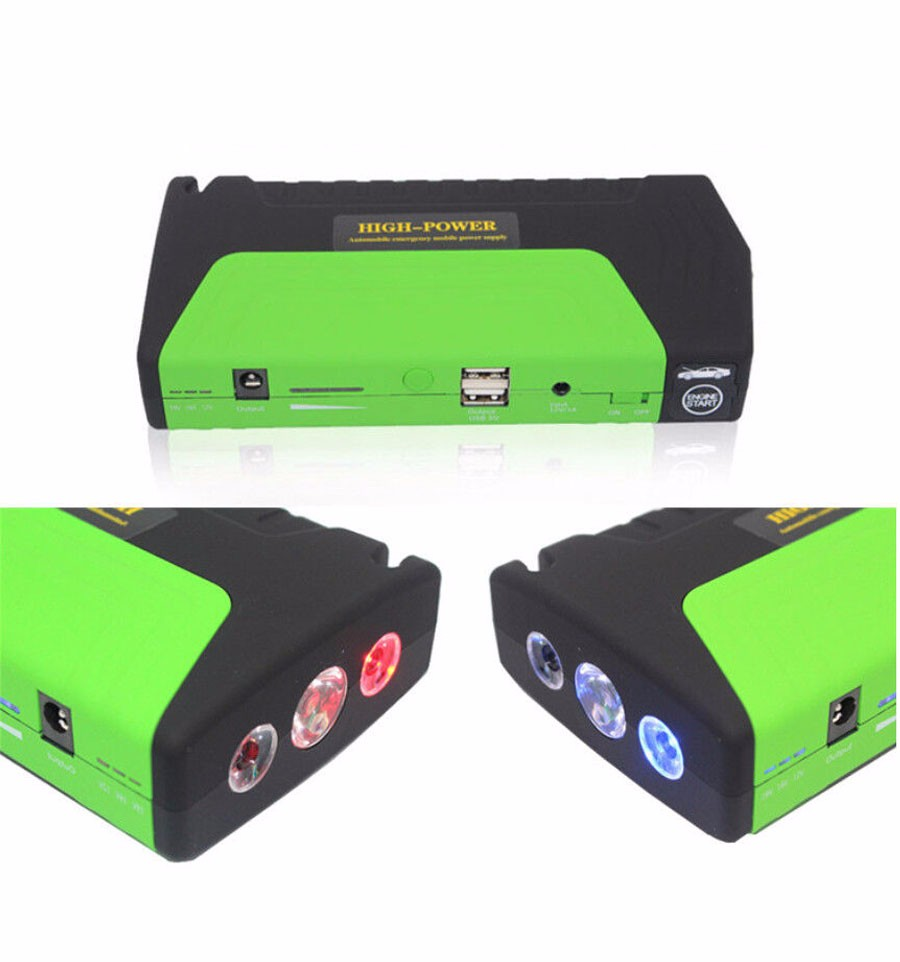 Car Jump Starter 50800mAh 12V High-capacity battery charger pack for auto vehicle starting And Laptop Power Bank Multi-funtion