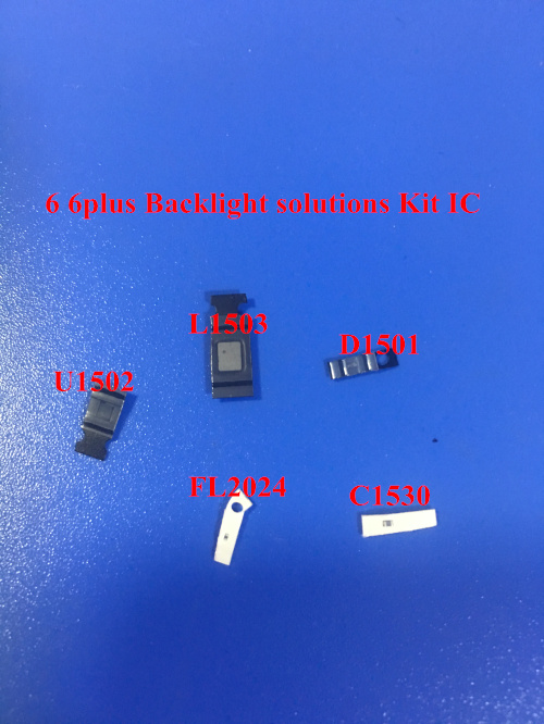 5sets(45pcs) For Iphone 6 6 Plus Backlight Kit Ic U1502+coil L1503 +diode D1501 +Capacitor C1530 C1531 C1505 Filter FL2024-25 26