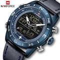2019 męskie zegarki Top marka NAVIFORCE mężczyźni moda Sport zegarek męski wodoodporny zegarek kwarcowy cyfrowy zegar led męski zegarek wojskowy