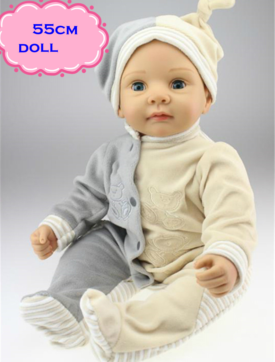 Free Shipping Hot Sale Real Silicon Baby Dolls 55cm/22inch NPK Brand Lifelike Lovely Reborn Dolls Babies Toys for Children Gift free shipping hot sale real silicon baby dolls 55cm 22inch npk brand lifelike lovely reborn dolls babies toys for children gift