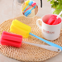 Long Handle Baby Bottle Brush Glass Cleaning Deep Cleaning Sponge Brush Cup Cleaning Tool Kitchen Utensils(China)