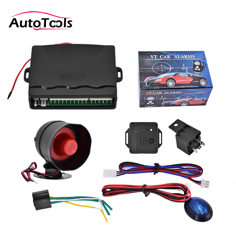 Système d'alarme antivol 12 V système de sécurité de voiture système de Protection Anti-vol de véhicule à sens unique avec télécommande