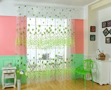 Plants And Flowers Printed Voile Fabric Tulle