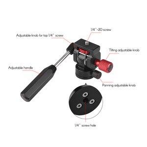 """Image 4 - Andoer professionnel Mini téléphone vidéo trépied tête vidéo trépied Action fluide glisser la tête avec 1/4 """"monture à vis"""