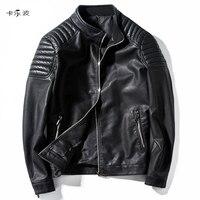 KALEBO Business Fashion Leather Jacket Men S Fall Winter Leather Clothing Men S Leather Jacket Men