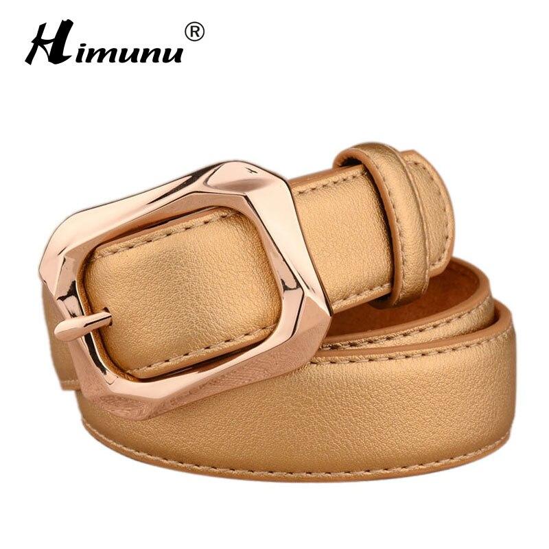 Himunu Fashion Women Belt Genuine Leather Belt for Women Luxury Brand  Cowhide Leather Jeans Pin Buckle Jeans Belts Women 01e676b7d5e3