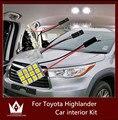 Guang Dian car light led interior light Kit roof lamp reading bulb map light for Highlander accessories 2001-2015