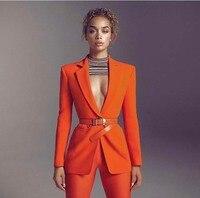 Formal Women Business Suits 2 Piece Pant and Jacket Set Blazer Ladies Office Uniform