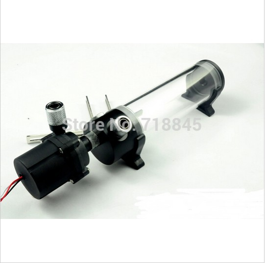 190mm cylinder water tank + SC600 pump all-in-one set Maximum flow 600L/H computer water cooling radiator цена