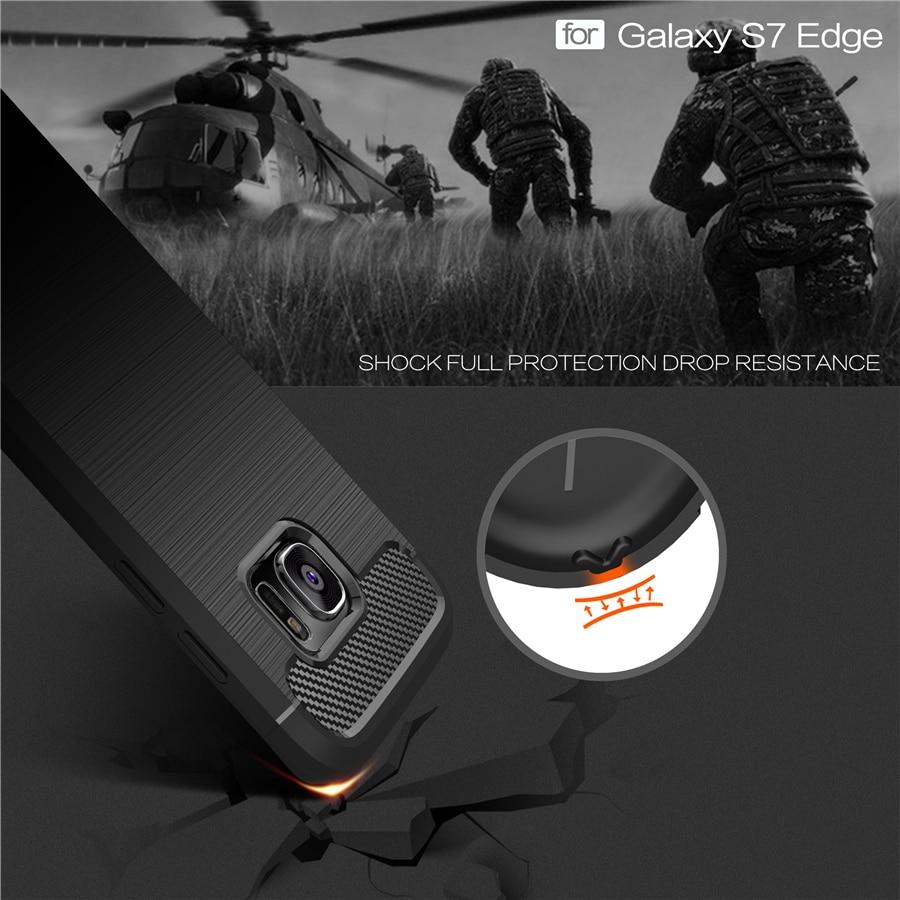 Otporni na kućište telefona za Samsung Galaxy S6 S6 Edge S7 S7 Edge S8 S9 Plus S10 S10E S10 Plus Carbon Fiber TPU Vuča telefon