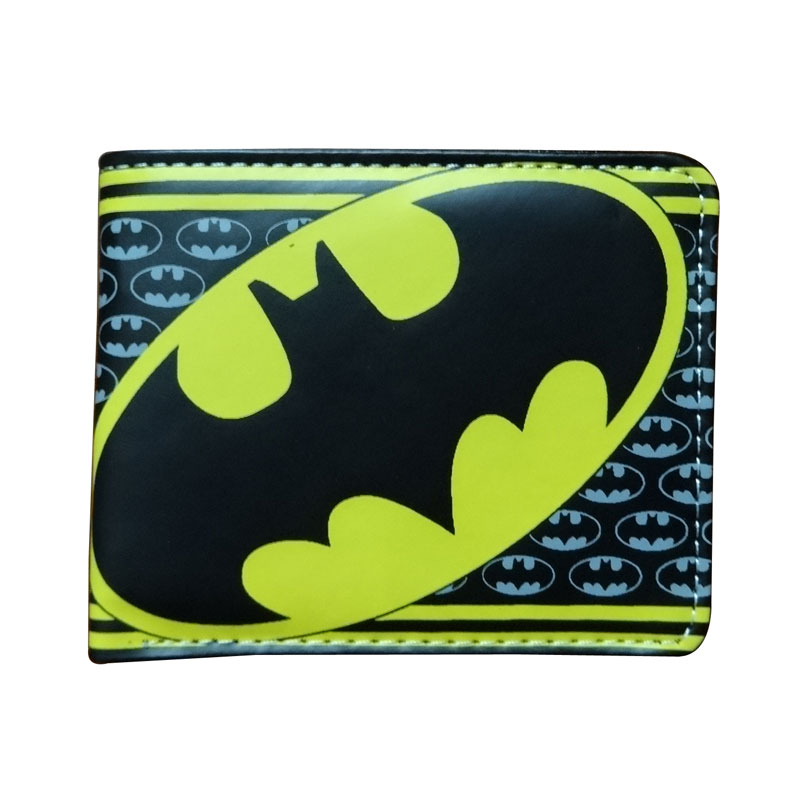 Casual Leather Anime Purse Cartoon Hero Batman Wallets carteira Dollar Price Gift Boy Girl Folded Short Wallet 2017 new overwatch wallets cartoon anime leather purse dollar price overwatch hero card money bag gift carteira men short wallet