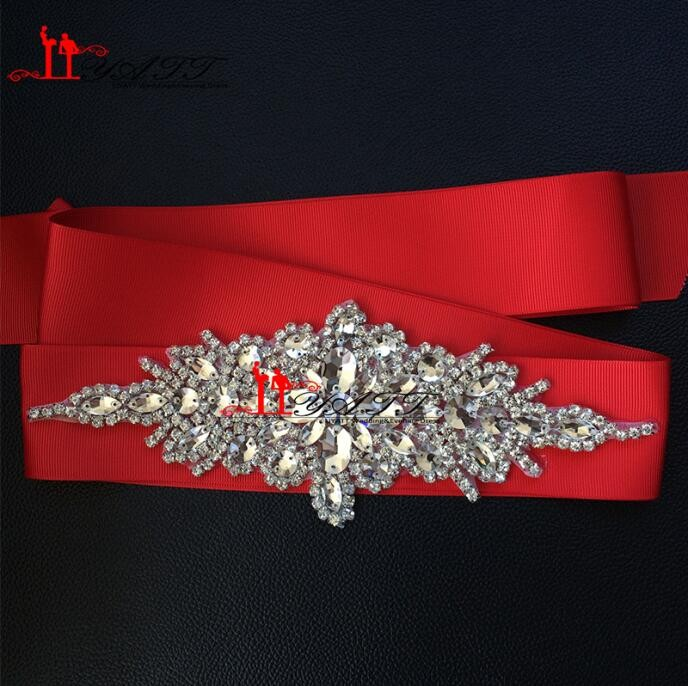 New-Promotion-Crystals-Robbin-Sash-for-Bride-Artificial-Wedding-Belt-for-Weddings-Real-Images (2)