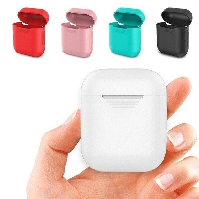 ل AirPods غطاء حافظة من السيليكون جلد واقي ل Apple Airpod يغطي حافظة سماعات الأذن Airpods سماعات الأذن سماعات الأذن
