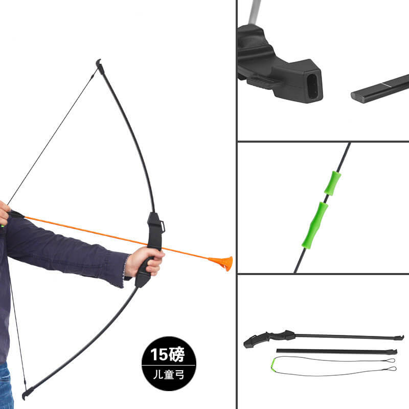 Archery 15lbs Children Kids Takedown Recurve Bow Shooting for Youth Gift Toy ZY