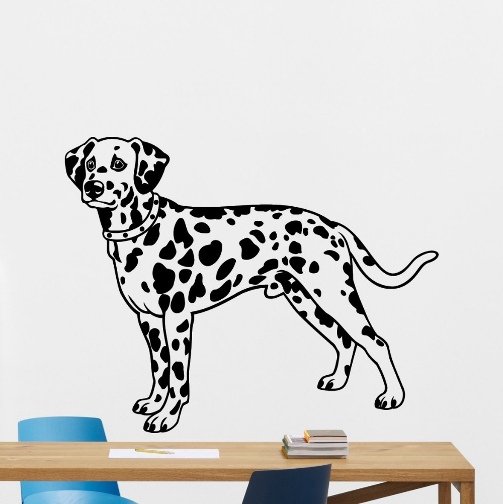 DALMATION  DOG vinyl wall art sticker decal
