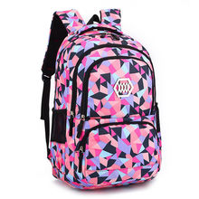 Fashion Girl School Bag Waterproof light Weight Girls Backpack bags printing backpack child(China)