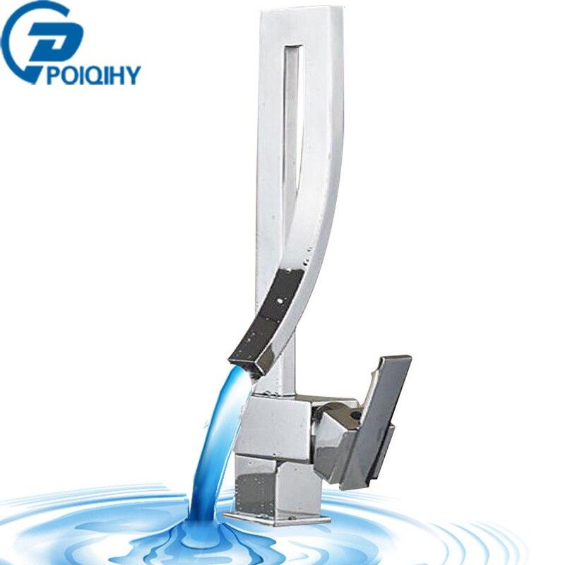 Best buy ) }}Chrome Bath Sink Mixer Bathroom Basin Faucet Line Design Vessel Tap Single