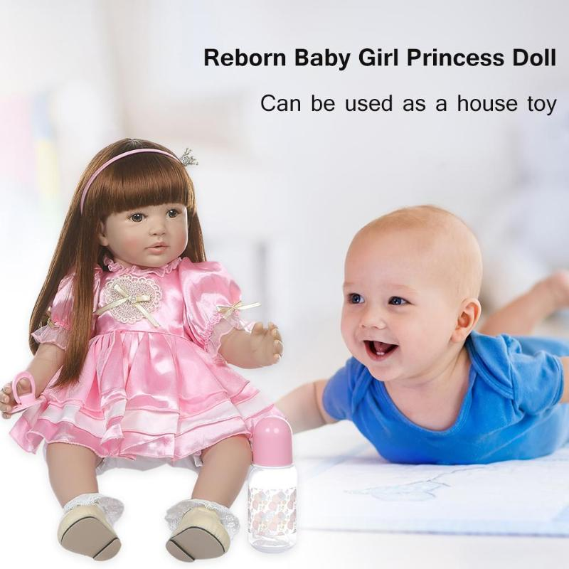 Enfants bébé poupée mignon vinyle Reborn bébé fille princesse doux poupée jouet enfants Playmate w/vêtements sûrs vinyle enfants bébé poupée jouet