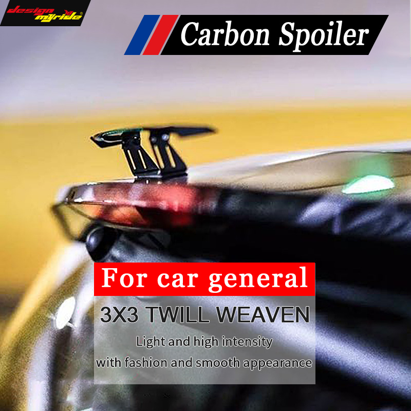 High-quality Automobile general-purpose mini spoiler Carbon Small tail Fir For KIA K4 3-Sedan car general Decoration Car-styling
