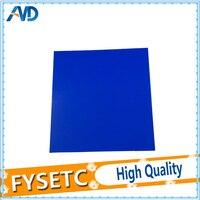 1 pc 300*300mm Frio PEI PEI Construir Superfície Fosco Azul 3D Pring Polieterimida Frio Folha Com 3 M 468MP Adesivo 0.3mm de Espessura