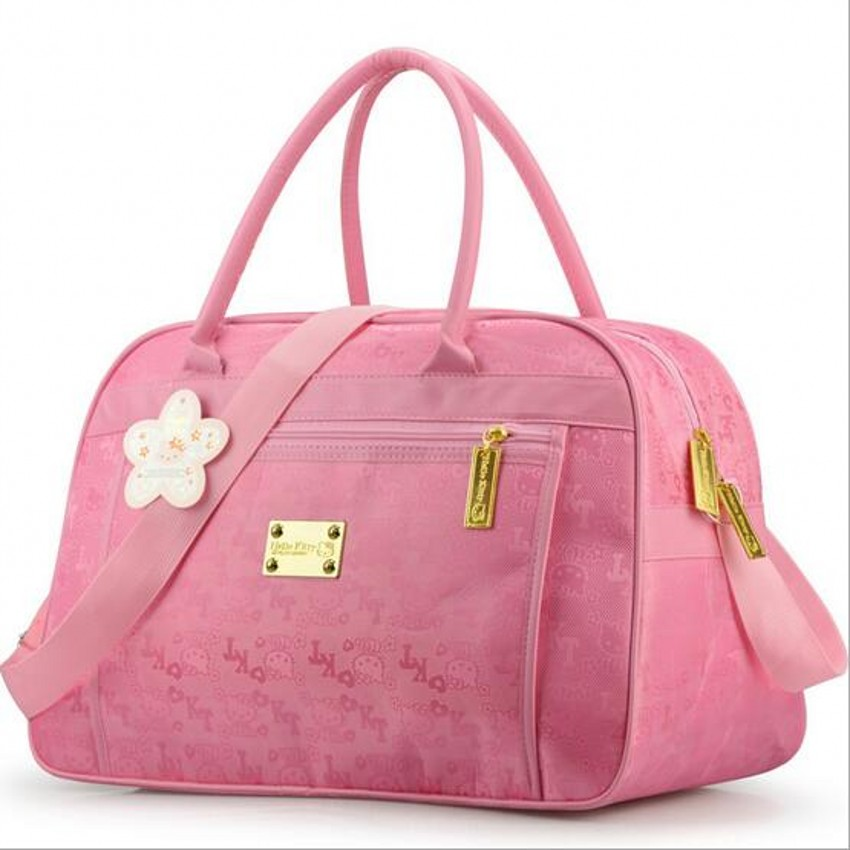 Fashion Hello Kitty cute pink travel shoulder big bag women cartoon designer large casual tote clutch handbag borsa donna49 fashion hello kitty cute pink travel shoulder big bag women cartoon designer large casual tote clutch handbag borsa donna49