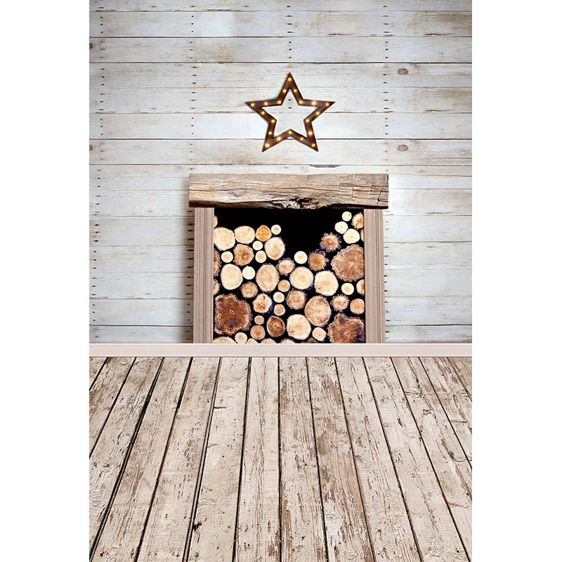 Vinyl Photography Backdrops Children Wooden Floor Fireplace Photo Background for photo Studio CM-6713 wooden floor and brick wall photography backdrops computer printing thin vinyl background for photo studio s 1120