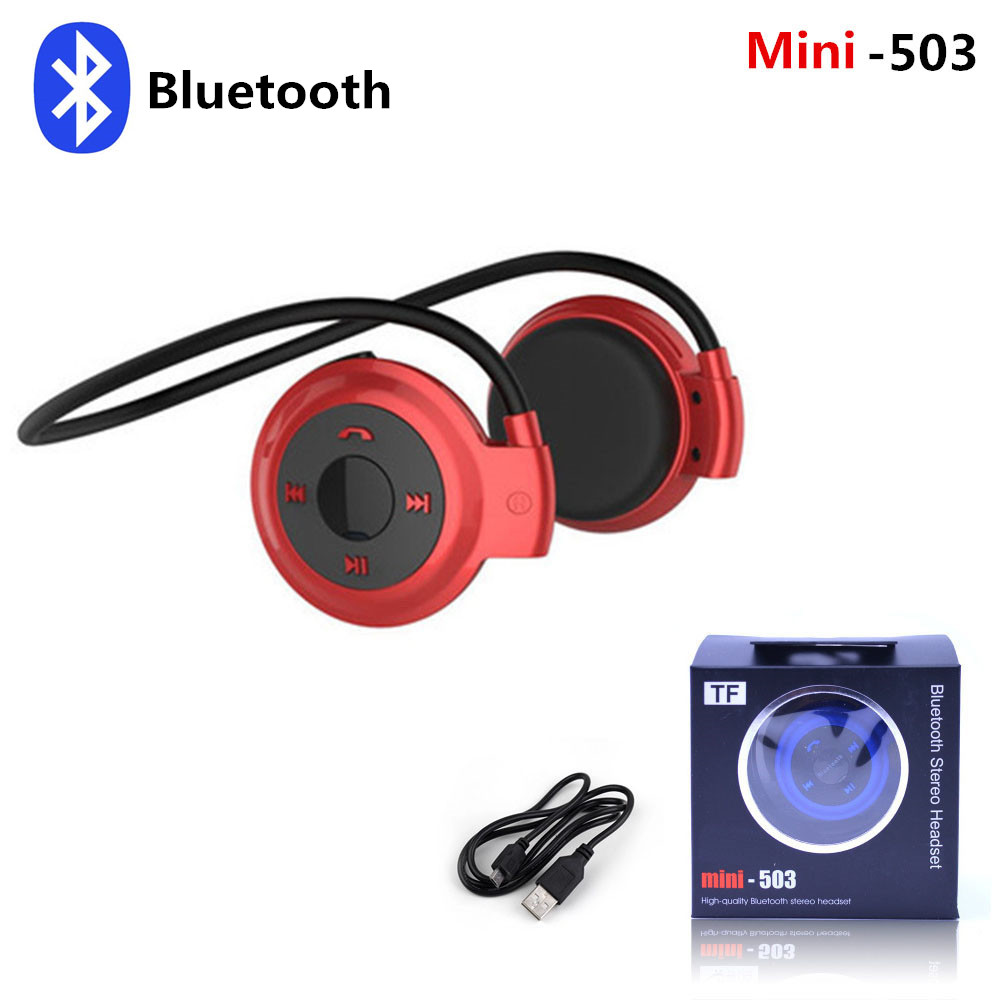 Mini 503 Ear-Hook Stereo Earphones Wireless Bluetooth Headset Sports Headphone Support TF Card/FM Speakers +Micro MP3 Players sports wireless bluetooth stereo headset with fm tf card mp3 music player headphone