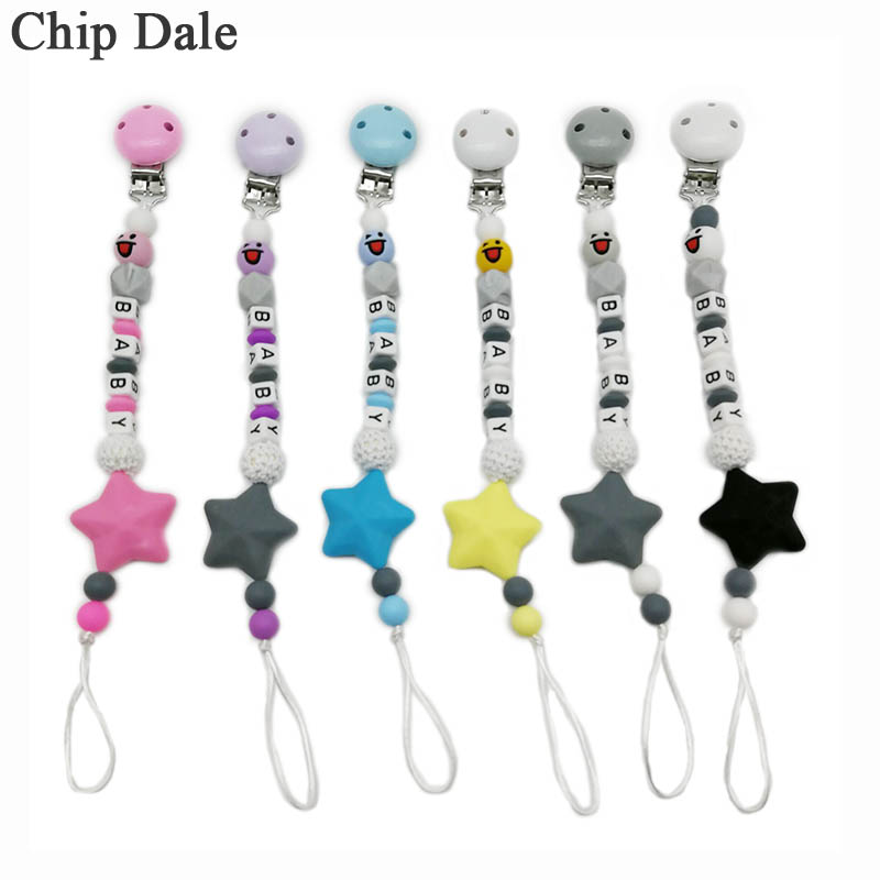 Dummy Clip CIips Strap  Baby Gift Plastic CIip...Any Name..